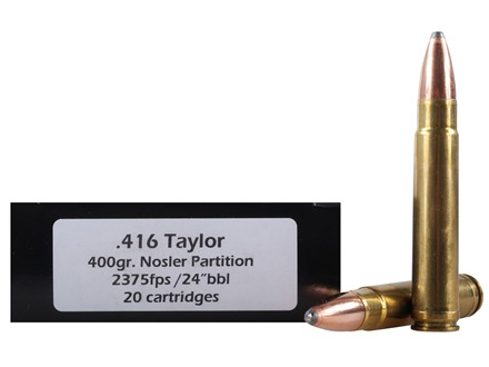 Doubletap Ammunition 416 Taylor 400 Grain Nosler Partition Box of 20