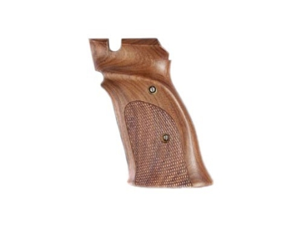 Hogue Fancy Hardwood Grips S&amp;W 41 with Left Hand Thumb Rest Checkered Pau Ferro