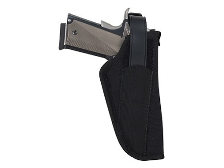 BlackHawk Hip Holster with Thumb Break Right Hand 1911 Government, Browning Hi-Power Nylon Black