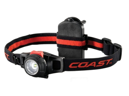 Coast HL7 Headlamp Focusable Variable Power White LED with Batteries (3 AAA) Aluminum Gray