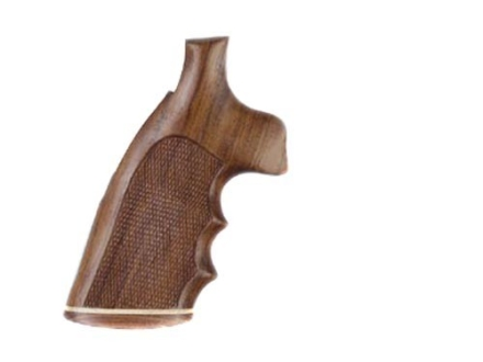 Hogue Fancy Hardwood Grips with Accent Stripe, Finger Grooves and Contrasting Butt Cap Colt Detective Special Checkered Rosewood