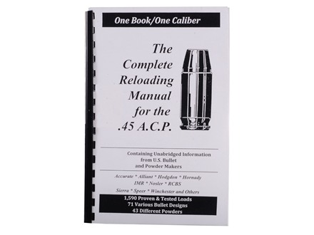 Loadbooks USA &quot;45 ACP&quot; Reloading Manual