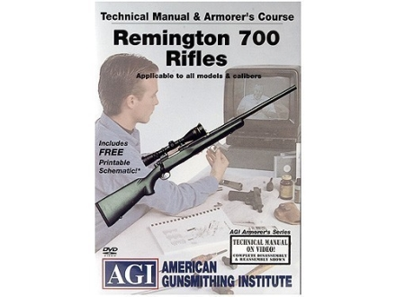 American Gunsmithing Institute (AGI) Technical Manual &amp; Armorer&#39;s Course Video &quot;Remington 700 Rifles&quot; DVD
