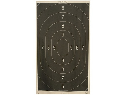 NRA Official Action Pistol Target B-18 50 Yard Rapid Fire Paper Package of 100