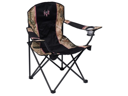 Ameristep Bone Collector Women&#39;s Easy Chair Steel Frame and Nylon Seat and Back Pink, Black and Realtree AP Camo