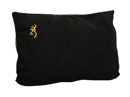 Browning Fleece Logo Pillow 16&quot; x 24&quot; Polyester Black