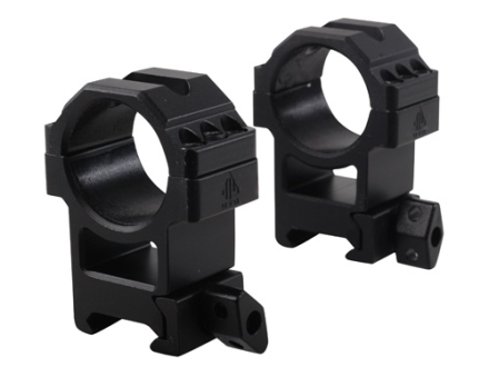 Leapers UTG 30mm Max Strength Tactical 6-Hole Quick Detachable Twist Lock Picatinny-Style Rings Matte High