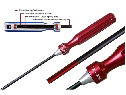 "Montana X-Treme (MTX) 1-Piece Cleaning Rod 22 to 264 Caliber 30"" Coated Spring Steel 8 x 32 Female Thread"