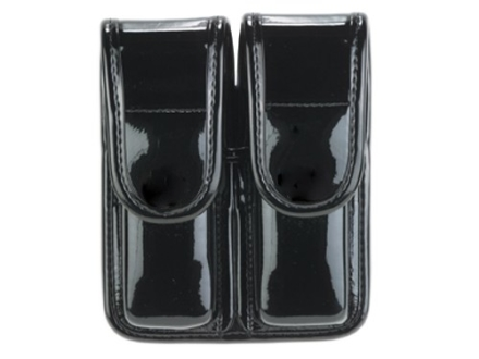 Bianchi 7902 AccuMold Elite Double Magazine Pouch Double Stack 45 ACP Hidden Snap Trilaminate High-Gloss Black