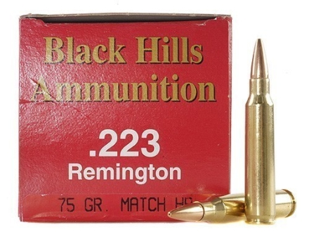 Black Hills Ammunition 223 Remington 75 Grain Match Hollow Point Box of 50