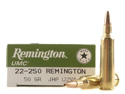 Remington UMC Ammunition 22-250 Remington 50 Grain Jacketed Hollow Point Box of 20