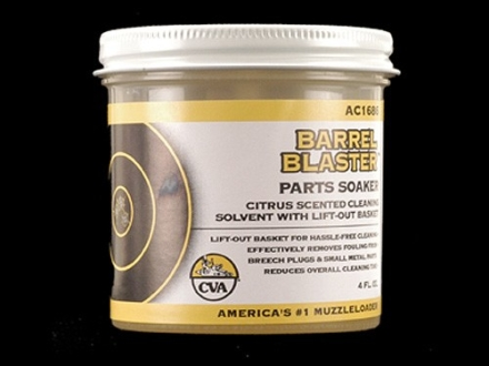 CVA Barrel Blaster Black Powder Parts Soaker Solvent 4 oz Jar with Basket
