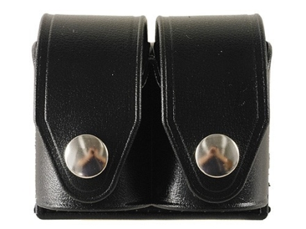 HKS Double Speedloader Pouch Hytrel Plain Black Medium