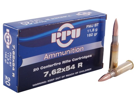 Prvi Partizan Ammunition 7.62x54mm Rimmed Russian 182 Full Metal Jacket Box of 20