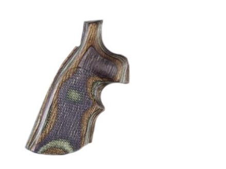 Hogue Fancy Hardwood Grips with Top Finger Groove Taurus Small Frame Checkered Lamo Camo
