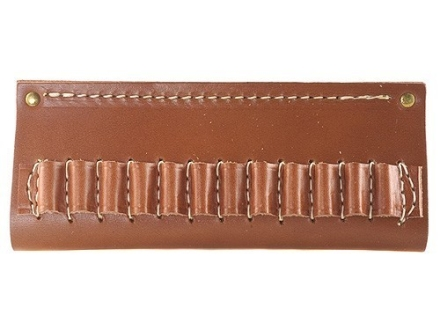 Hunter Cartridge Belt Slide Rifle Ammunition Carrier 22 Caliber Rimfire 12-Round Leather Brown