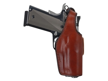 Bianchi 19L Thumbsnap Holster Right Hand Colt Government 380, Mustang Suede Lined Leather Tan