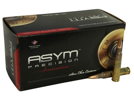 ASYM Precision Tactical Match Ammunition 223 Remington 77 Grain Open-Tip Match (OTM) with Cannelure Box of 50