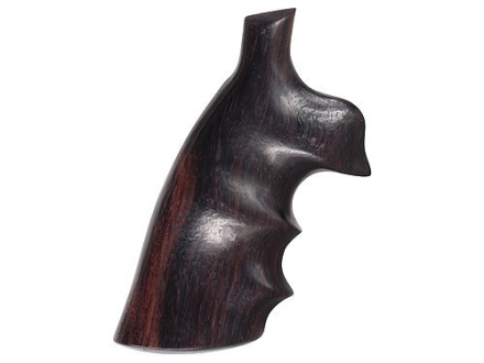 Hogue Fancy Hardwood Conversion Grips with Finger Grooves S&W K, L-Frame Round to Square Butt Rosewood