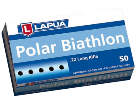 Lapua Polar Biathlon Ammunition 22 Long Rifle 40 Grain Lead Round Nose Box of 500 (10 Boxes of 50)