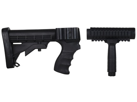 ProMag 6-Position Collapsible Buttstock Set with Pistol Grip, Tri-Rail Forend & Vertical Forend Grip Remington 870 12 Gauge Synthetic Black