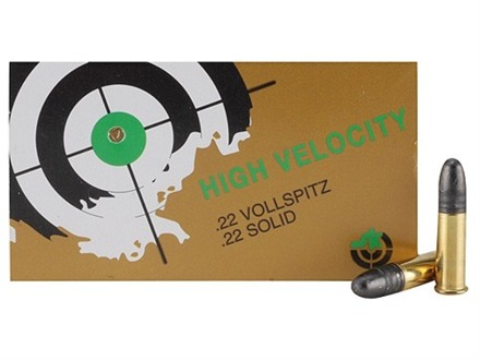 SK High Velocity Ammunition 22 Long Rifle 40 Grain Lead Round Nose Box of 500 (10 Boxes of 50)