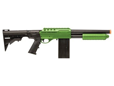 Crosman Airsoft Zombie Terminator Shotgun Spring Powered Pump Action Polymer Stock Black and Green