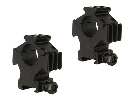 "B-Square 1"" Tactical Picatinny-Style Tri-Rings with 3 Picatinny Rails High Matte"