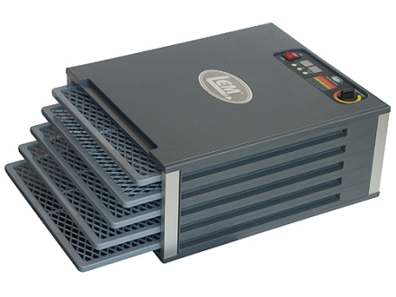 LEM 5-Tray Dehydrator with Digital Timer Aluminum and Polymer