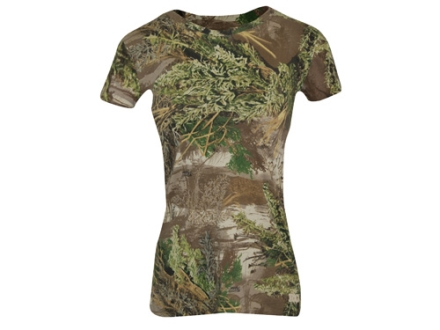 Realtree Girl Women&#39;s Redwood Crew T-Shirt Short Sleeve Cotton