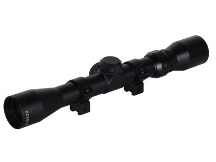 TRUGLO TruShot Rifle Scope 3-9x 32mm Duplex Reticle Matte with Weaver-Style Rings