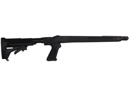 Choate 5-Position Collapsible Rifle Stock with Pistol Grip M1 Carbine Synthetic Black