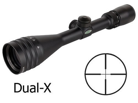 Weaver 40/44 Series Rifle Scope 3.8-12x 44mm Adjustable Objective Dual-X Reticle Matte