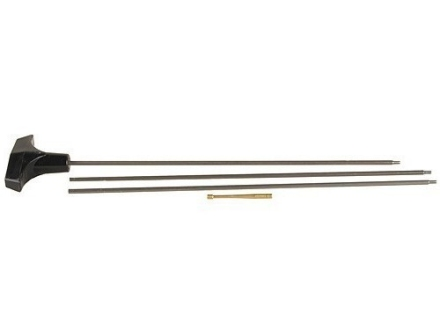 "Hoppe's 3-Piece Rifle Cleaning Rod 17 Caliber 33"" Steel 5 x 40 Male Thread"