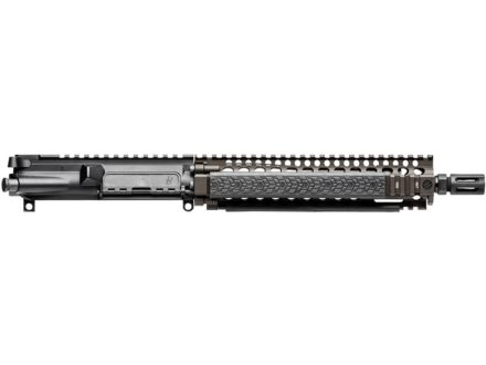Daniel Defense AR-15 Pistol MK18 A3 Flat-Top Upper Assembly 5.56x45mm NATO 1 in 7&quot; Twist 10.3&quot; Government Barrel Chrome Lined CM with MK18 RIS II Quad Rail Free Float Handguard, Flash Hider