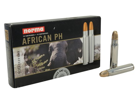 Norma African PH Ammunition 500 Jeffery 570 Grain Woodleigh Full Metal Jacket Box of 10