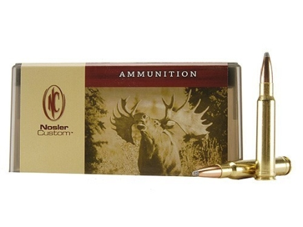 Nosler Custom Ammunition 338 Winchester Magnum 225 Grain Partition Spitzer Box of 20