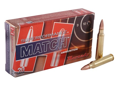 Hornady SUPERFORMANCE Ammunition 5.56x45mm NATO 75 Grain Hollow Point Boat Tail Match Box of 20