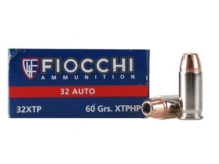 Fiocchi Extrema Ammunition 32 ACP 60 Grain Hornady XTP Jacketed Hollow Point Box of 50