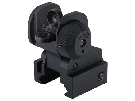 Midwest Industries Flip Up Rear Sight AR-15 Flat-Top Aluminum Black