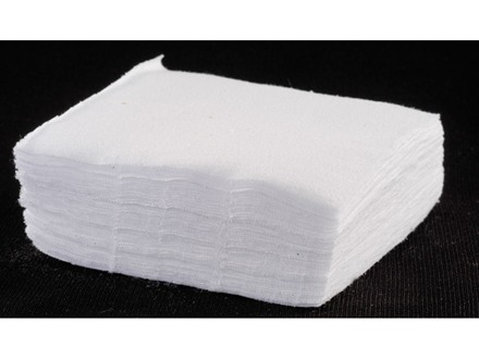 Tipton Cleaning Patches 16, 12, 10 Gauge Square Cotton Package of 500