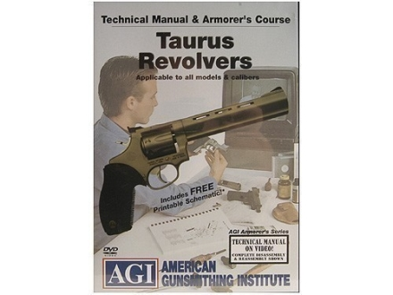 American Gunsmithing Institute (AGI) Technical Manual &amp; Armorer&#39;s Course Video &quot;Taurus Revolvers&quot; DVD