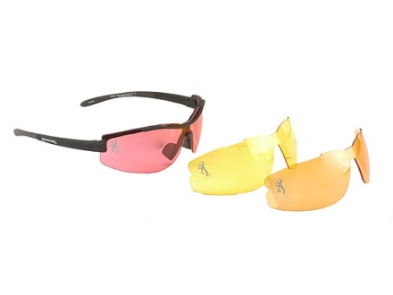 Browning Ace Shooting Glasses Vermillion, Orange and Yellow Lenses