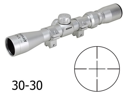 Konus Pro Rimfire Rifle Scope 2-7x 32mm 30-30 Reticle Silver