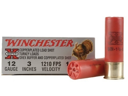 Winchester Super-X Turkey Ammunition 12 Gauge 3&quot; 1-7/8 oz #5 Copper Plated Shot