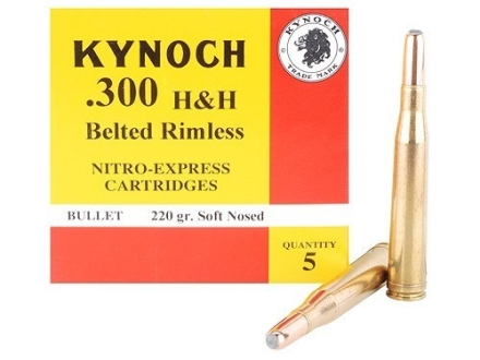 Kynoch Ammunition 300 H&H Magnum 220 Grain Woodleigh Weldcore Soft Point Box of 5