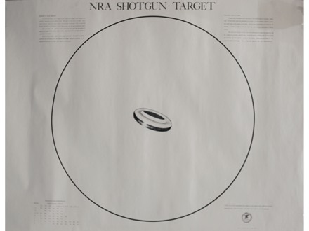 NRA Official Shotgun Patterning Target ST-2 40 Yard Paper Package of 10
