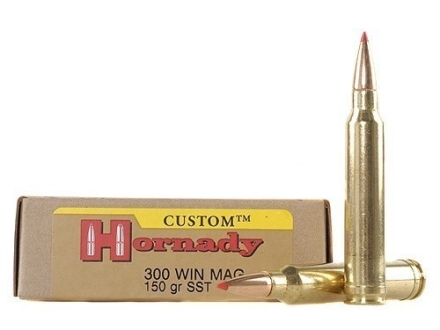 Hornady Custom Ammunition 300 Winchester Magnum 150 Grain SST Box of 20