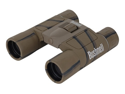 Bushnell Powerview Binocular 10x 25mm Compact Roof Prism Rubber Armored Camo