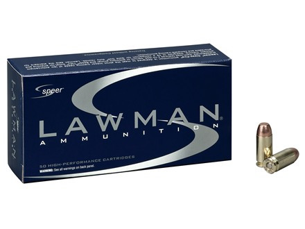 Speer Lawman Ammunition 9mm Luger 124 Grain Full Metal Jacket Box of 50